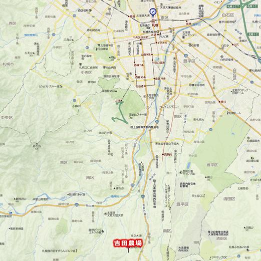 札幌市南区吉田農場の地図