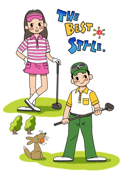 パークゴルフの女性の服装