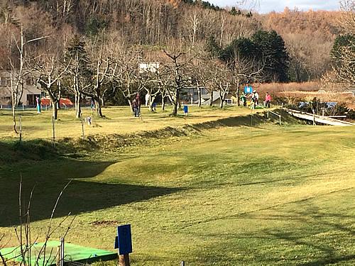 札幌パークゴルフ石山のコース用通路